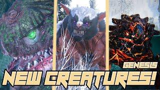 ALL NEW ARK GENESIS CREATURES!! - ARK GENESIS DLC