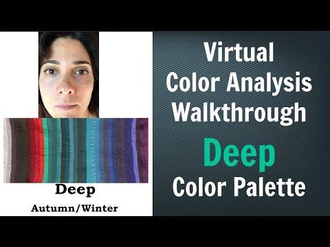 Deep Winter & Deep Autumn Color Palette: Neutral Skin Undertone - Virtual Color Analysis