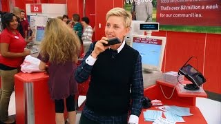 Ellen Goes Holiday Shopping at Target