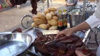 Soc Trang Vietnam  City pictures : street grilled pork hawker Vietnamese Heo Quay Soc Trang