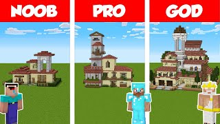 Minecraft NOOB vs PRO vs GOD: ITALIAN HOUSE BUILD CHALLENGE in Minecraft / Animation