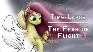 The Fear of Flight - Time-Lapse Painting | ABluSkittle