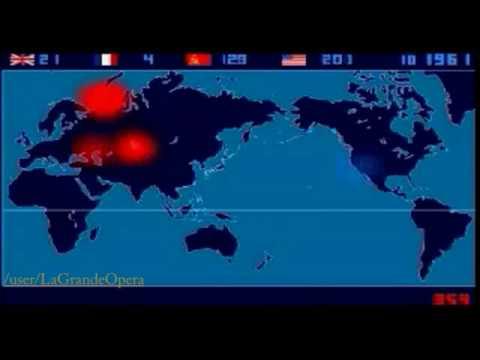 timelaps per nazioni ed anno di tutte le esplosioni nucleari. assurdo