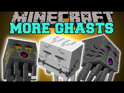 Minecraft: MORE GHASTS (KING, QUEEN, PICK UP MOBS, & BITE YOU!) Mod Showcase