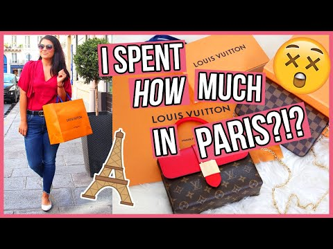 THIS WAS SO UNLIKE ME!! 😳 Shopping in PARIS Louis Vuitton Unboxing Haul