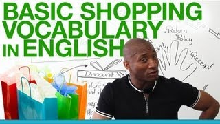 Basic shopping vocabulary in English