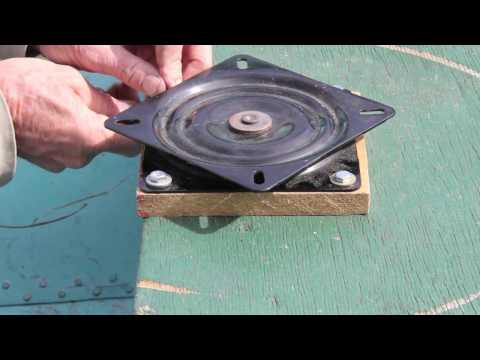 How to install a swivel plate and boat seat