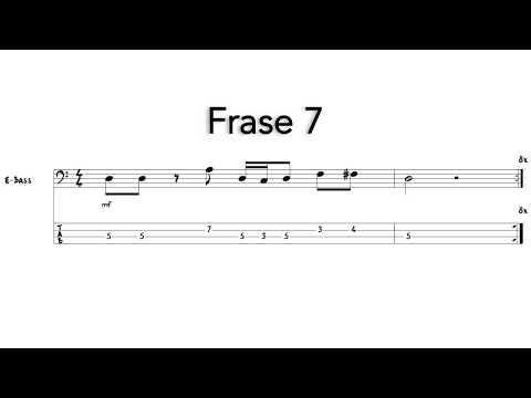 Frases cortas - Frase 7 - Sacar nota por nota - Bajo eléctrico