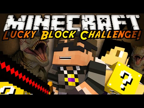 Minecraft Lucky Block Mod CHALLENGE! T-REX DINOSAURS!
