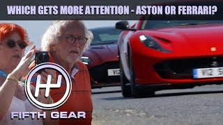 Which gets more attention - Aston or Ferrari? | Fifth Gear by Fifth Gear