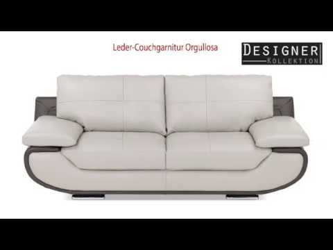 Leder-Couchgarnitur Orgullosa