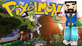 Minecraft Pixelmon - First REAL Grass Gym Attempt! - EP19 (Pokemon Mod)