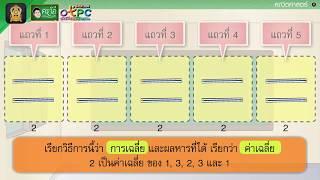 สื่อการเรียนการสอน การเฉลี่ย ป.4 คณิตศาสตร์