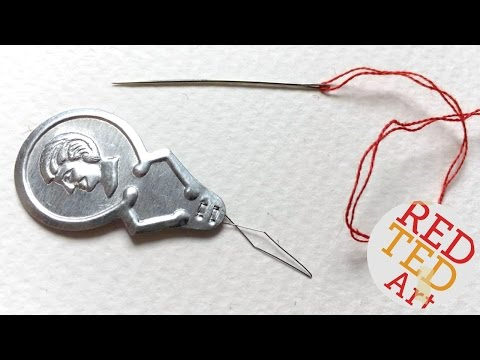 How to use a needle threader (Craft Basics)