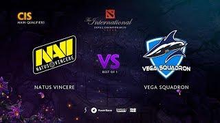 Natus Vincere vs Vega Squadron, TI9 Qualifiers CIS, bo1 [Lex & 4ce]