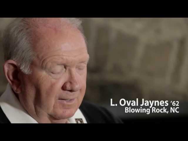Oval Jaynes '62, Distinguished Alumni