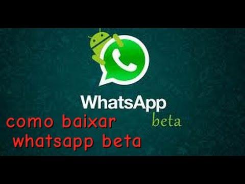 Como baixar whatsapp beta