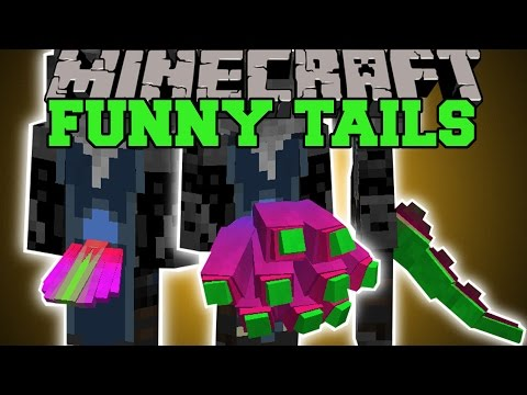 Minecraft: FUNNY TAILS (YOU ARE THE DEVIL, NINETAILS, DRAGON, & MORE!) Mod Showcase