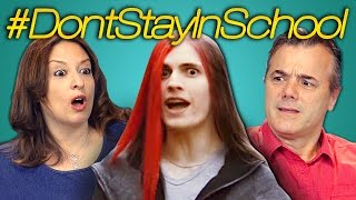 Video PARENTS REACT TO DON'T STAY IN SCHOOL MP3, 3GP, MP4, WEBM, AVI, FLV Oktober 2018