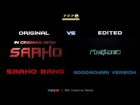 SAAHO Bang Bang vs Goodachari Edited Version  | Prabhas | Adivi Sesh | Shraddha Kapoor |
