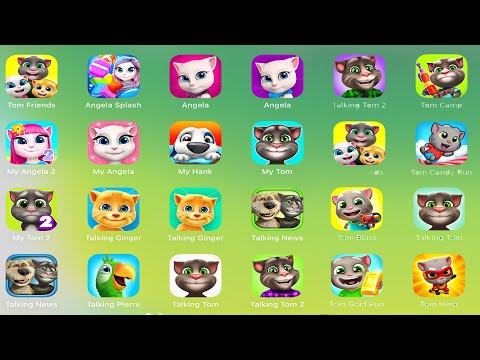 My Talking Tom 2,Tom Jump,Angela,Candy Run,Pool,Gold Run,Jetski,Little Kitten,Ginger,Ben,Chiken Pox