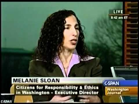 Melanie Sloan Discusses Ethics Questions on C-SPAN