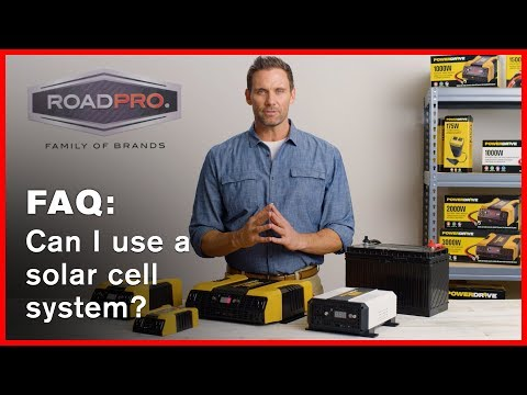 Power Inverter FAQ #5 - Can an inverter be used on a solar cell charger battery system?