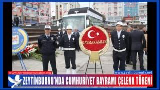 Zeytinburnu'nda Cumhuriyet Bayramı Çelenk Töreni