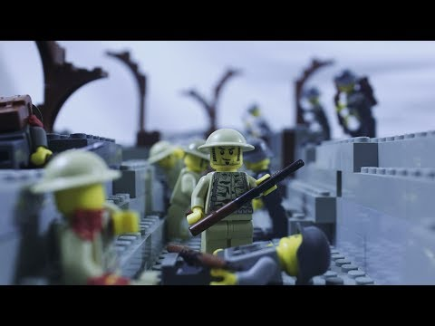 Lego WW1 - The Fourth Battle of Ypres - Stop Motion Animation - World War One Army Battlefield 1