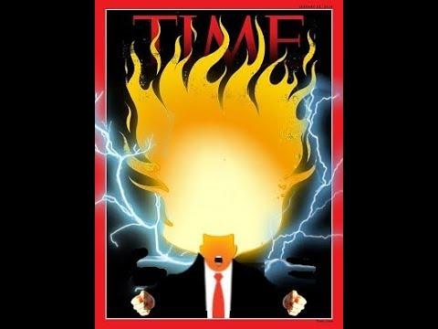 Trump Time Magazine Cover goes Super Saiyan 3