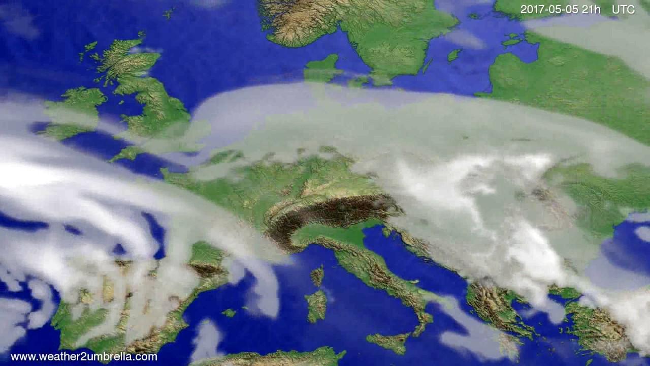 Cloud forecast Europe 2017-05-02