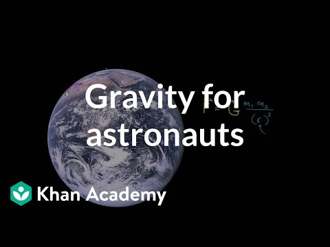 orbit - Learn more: http://www.khanacademy.org/video?v=oIZV-ixRTcY Why do astronauts appear weightless despite being near the Earth?