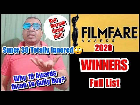 Filmfare Awards 2020 Full Winners List, Why Super 30 And Other Movies Ignored!
