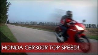 10. 2015 Honda CBR300R: Top speed, flyby, revving