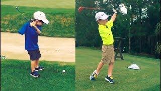 Wie dieser kleine Junge ohne rechten Arm Golf spielt, ist einfach nur Unglaublich!