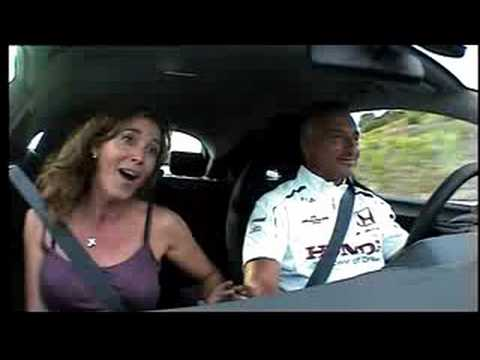 F1 driver takes his wife on track for a lap