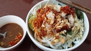 Bun Mam Nem - Rice vermicelli with roasted pork and anchovy fish sauce