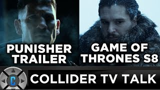 On this episode of Collider TV Talk (August 18, 2017) Josh Macuga, Sinead de Vries, and Grace Hancock discuss: - Game of Thrones filming date revealed- CW developing female gladiator series- Paul Sheer hired to write Galaxy Quest- Revival picked up by Fox- The Game of Thrones SiNopsis -Live Punisher Trailer Reaction and Review - De Vries Style- Twitter questions- Pick of the DayFollow Josh: https://twitter.com/JoshMacugaFollow Sinead: https://twitter.com/sineaddevriesFollow Grace: https://twitter.com/mrsgracefaceFollow us on Twitter: https://twitter.com/ColliderVideoFollow us on Instagram: https://instagram.com/ColliderVideoFollow us on Facebook: https://facebook.com/colliderdotcomAs the online source for movies, television, breaking news, incisive content, and imminent trends, COLLIDER is a more than essential destination: http://collider.comFollow Collider.com on Twitter: https://twitter.com/ColliderSubscribe to the SCHMOES KNOW channel: https://youtube.com/schmoesknowCollider Show Schedule:- MOVIE TALK: Weekdays  http://bit.ly/29BRtOO- HEROES: Weekdays  http://bit.ly/29F4Job- MOVIE TRIVIA SCHMOEDOWN: Tuesdays & Fridays  http://bit.ly/29C2iRV - TV TALK: Mondays  http://bit.ly/29BR7Yi - COMIC BOOK SHOPPING: Wednesdays  http://bit.ly/2spC8Nn- JEDI COUNCIL: Thursdays  http://bit.ly/29v5wVi - COLLIDER NEWS WITH KEN NAPZOK: Weekdays  http://bit.ly/2t9dNIE- BEST MOVIES ON NETFLIX RIGHT NOW: Fridays  http://bit.ly/2txP3gn- BEHIND THE SCENES & BLOOPERS: Saturdays  http://bit.ly/2kuLuyI- MAILBAG: Weekends  http://bit.ly/29UsKsd