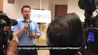 Hit! Dziennikarka tvp.info pyta Rafał Trzaskowski jego zdanie w sprawie delegalizacji marszu z ONR