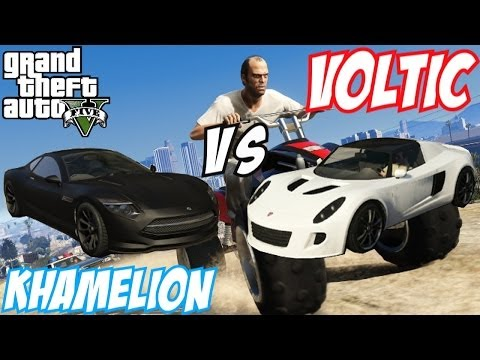 Voltic - GTA 5 car comparison video today, showcasing you Khamelion Vs Voltic available on GTA 5 Online. What is your personal preference, the Khamelion or the Voltic...
