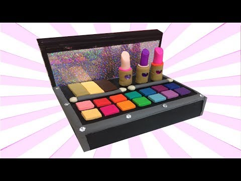 Play Doh Cosmetics Set Make Up Box Making DIY For Dolls