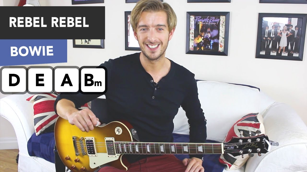 David Bowie – Rebel Rebel Guitar Tutorial Lesson – EASY Beginner GUITAR RIFF!