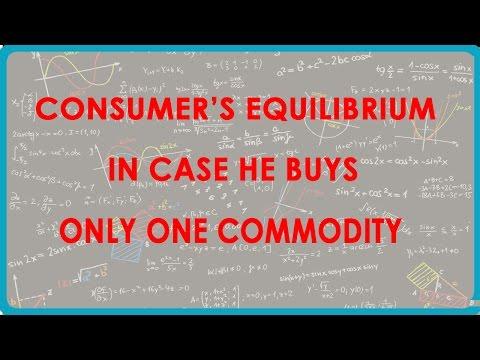 1146. CBSE Economics Class XII - Consumer  's Equilibrium, falls er kauft nur eine Ware