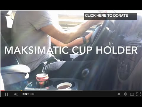 Man prototypes a new cup holder for cars. It should be standard.
