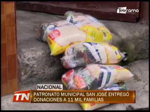 Patronato municipal San José entregó donaciones a 11 mil familias
