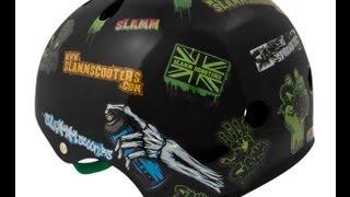 Slamm - Black Sticker Helmet - helma + nálepky
