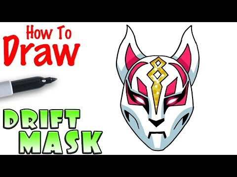 How to Draw Drift's Mask | Fortnite