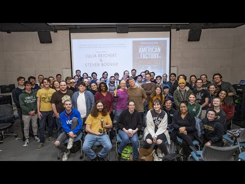 Video thumbnail: Wright State motion pictures program celebrates Oscar with Julia Reichert and Steven Bognar