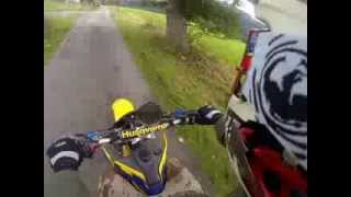 8. Husqvarna te 250 first ride with gopro and crash