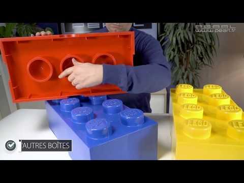 LEGO 4004 Boite Brique Rangement Storage Brick 8 Plots Knobs Neuf Jaune Yellow